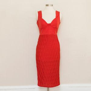 ASOS Orange Bodycon Dress 6